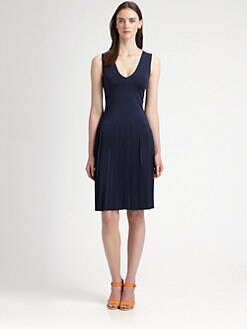 Ralph Lauren Black Label - Drop-Waist Pleated Dress
