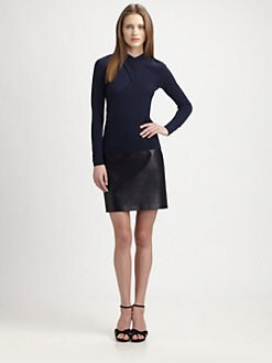 Ralph Lauren Black Label - Cross-Front Cashmere Top