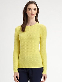 Ralph Lauren Black Label - Cable-Knit Cashmere Sweater