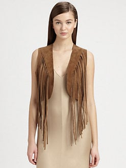 Ralph Lauren Black Label - Suede Jolene Fringe Vest