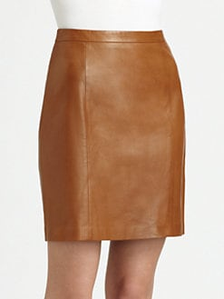 Ralph Lauren Black Label - Leather Patty Skirt