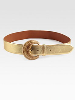 Ralph Lauren Black Label - Metallic C-Buckle Belt