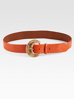 Ralph Lauren Black Label - Python C-Buckle Belt