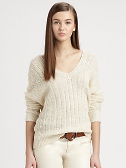 Ralph Lauren Black Label - Linen Dolman-Sleeve Sweater