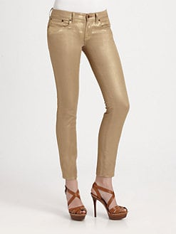 Ralph Lauren Black Label - Metallic Cropped Matchstick Jeans