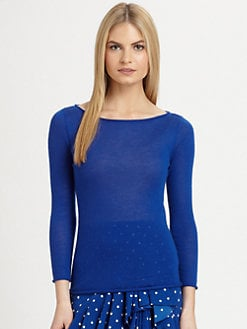 Ralph Lauren Black Label - Cashmere Ballet-Neck Top