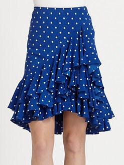 Ralph Lauren Black Label - Silk Abriella Polka Dot Skirt