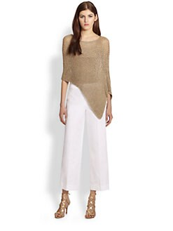 Ralph Lauren Black Label - Metallic Mesh Tank & Poncho