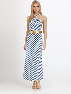 Ralph Lauren Black Label - Silk Chevron Stripe Juliet Dress