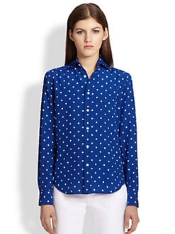Ralph Lauren Black Label - Caitlin Silk Polka Dot Shirt