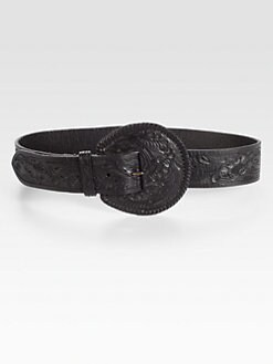 Ralph Lauren Collection - Tooled Leather Belt