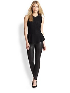 Ralph Lauren Black Label - Beaded Peplum Top