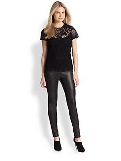 Ralph Lauren Black Label - Lana Mixed-Media Top