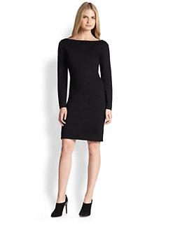 Ralph Lauren Black Label - Long-Sleeve Boatneck Dress