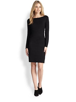 Ralph Lauren Black Label - Long-Sleeve Boatneck Dress