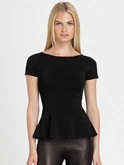 Ralph Lauren Black Label - Knit Peplum Top