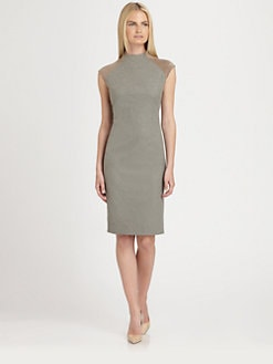 Ralph Lauren Black Label - Suede-Sleeve Farrah Dress