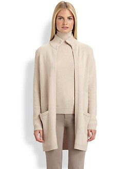 Ralph Lauren Black Label - Suede-Trimmed Cashmere Cardigan