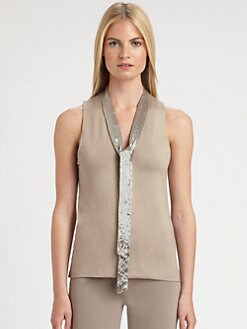 Ralph Lauren Black Label - Jesse Beaded Tie Top