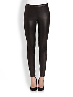 Ralph Lauren Black Label - Leather Abbey Pants
