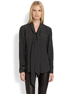 Ralph Lauren Black Label - Silk Polka Dot Blouse