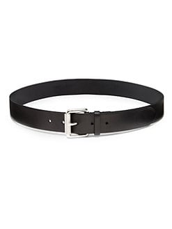 Ralph Lauren Black Label - Leather Roller Buckle Belt