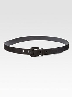 Ralph Lauren Black Label - Suede C-Buckle Belt
