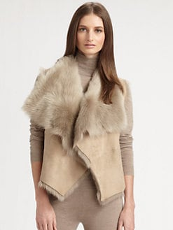 Ralph Lauren Black Label - Shearling Vest