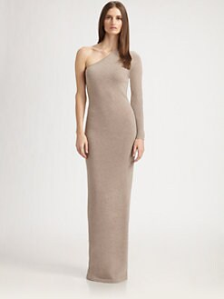 Ralph Lauren Black Label - Asymmetrical Cashmere Gown