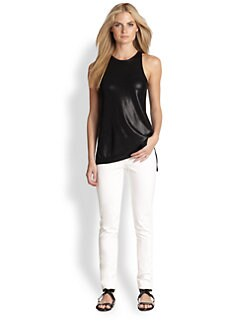 Ralph Lauren Black Label - Shiny Silk Easy Tank