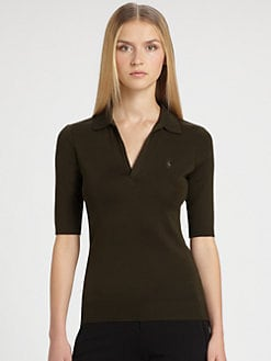 Ralph Lauren Black Label - Open-Placket Polo