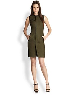 Ralph Lauren Black Label - Leather-Trimmed Beckett Dress