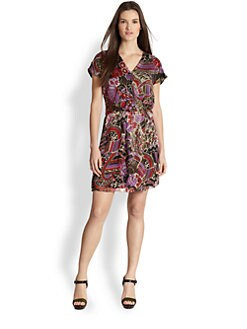 Ralph Lauren Black Label - Maye Printed Silk Wrap Dress