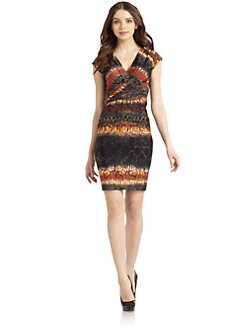 Andrew Marc - Reptile Cap Sleeve Dress