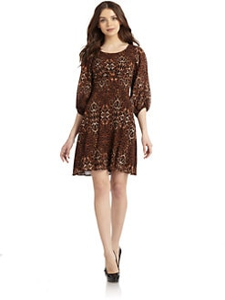 Andrew Marc - Leopard Split Sleeve Dress