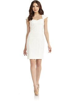 MARC NEW YORK by ANDREW MARC - Seamed Cap Sleeve Dress