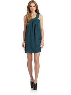 susana monaco - Macey Pintuck Crossback Dress