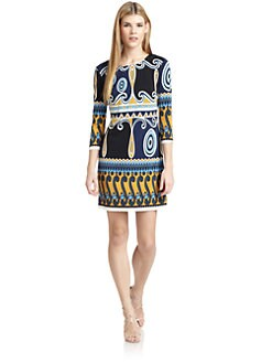 Ali Ro - Abstract Print Jersey Dress
