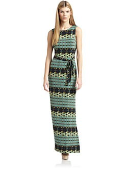 Ali Ro - Abstract Print Jersey Maxi Dress