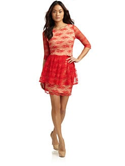 Alexia Admor - Lace Peplum Dress