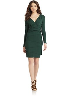 Nicole Miller - Twist Front Tiered Jersey Dress
