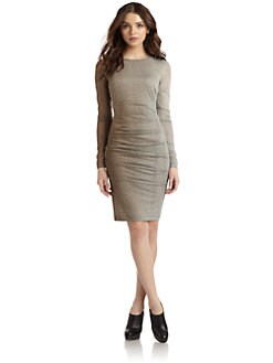 Nicole Miller - Ombre Ruched Jersey Dress