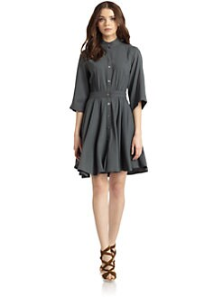 Nicole Miller - Button-Front Dress