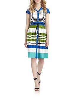 Chetta B - Cotton Striped Shirt Dress