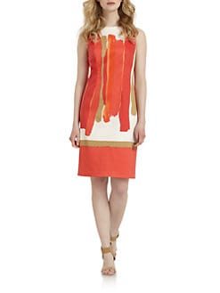 Chetta B - Stretch Cotton Printed Dress