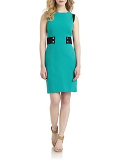 Chetta B - Tab-Waist Sheath Dress