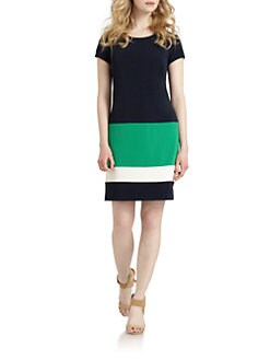 Chetta B - Striped Colorblock Dress