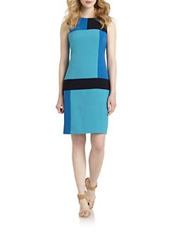Chetta B - Geometric Colorblock Dress