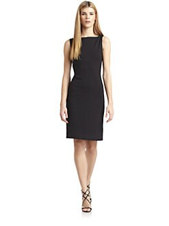susana monaco - Cutout Back Boatneck Dress
