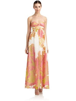 Aidan by Aidan Mattox - Paisley Chiffon Gown